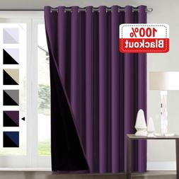 Flamingo P Extra Wide Blakcout Curtains for Patio Doors, 100