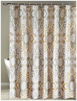 LanMeng Fabric Shower Curtain Classic Paisley Design, Grey B