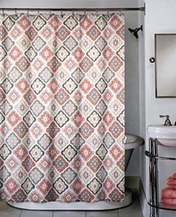Peri Fabric Shower Curtain Pink Salmon Gray Beige Charcoal T