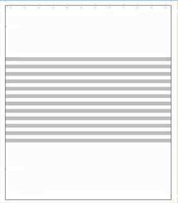 FABRIC SHOWER CURTAIN, STRIPED WHITE AND GRAY