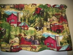Farm Cow Red Truck Horse country kitchen Farmhouse fabric cu