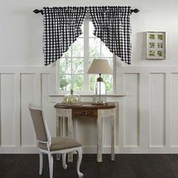 Farmhouse Kitchen Curtains Jenna Buffalo Check Prairie Swag