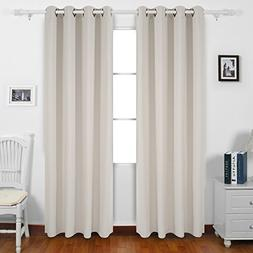 Deconovo Grommet Top Blackout Curtains Thermal Insulated Win