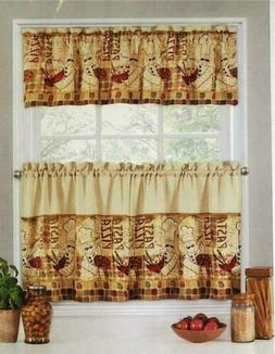 Fat Bistro Chef Kitchen Curtains Tier An