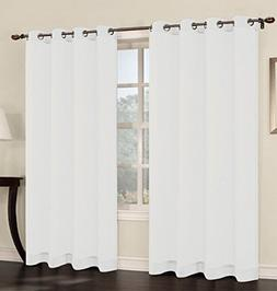 faux linen sheer curtain panels