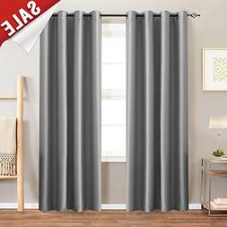 jinchan Faux Silk Satin Blackout Curtains for Living Room Lu