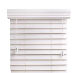 Premium 2 inch faux wood blinds, Snow White, 24 x 30