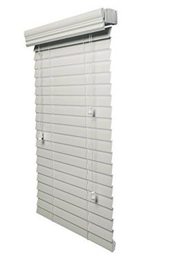 Lotus & Windoware 2-Inch Faux Wood Blind, 27 by 64-Inch, Whi
