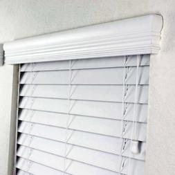 """2"""" FAUX WOOD BLINDS 34 x 72 INCHES IN WHITE WITH PREMIUM UPG"""