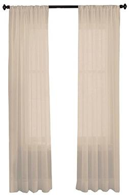 CHF Felicity Crinkle Voile Sheer Curtain Panel 51''W x 95''L