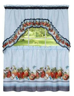 Fiji Apples Kitchen Curtain Tier & Swag Set by GoodGram - As