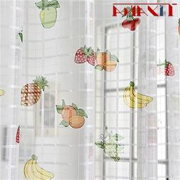 Finished Fruit Printing <font><b>Curtain</b></font> Tulle Fo