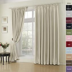 FirstHomer Pinch Pleat Solid Window Treatment Thermal Insula