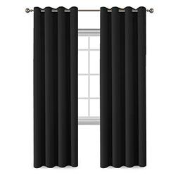 FlamingoP Room Darkening Thermal Insulated Blackout Curtains