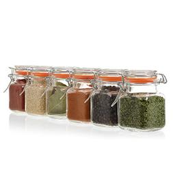 24-Count 3.4 oz Spice Jars with Lids Value Pack. Airtight Gl