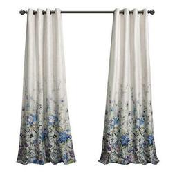 MYSKY HOME Floral Design Print Grommet top Thermal Insulated