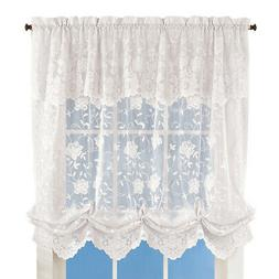 Floral Lace Balloon Shade Window Curtain, by Collections Etc