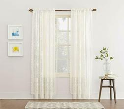 Floral Lace Curtains Alison Sheer Rod Pocket Curtain Panel 5