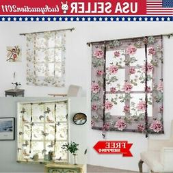 Floral Modern Tulle Curtains for Living Room Bedroom Kitchen