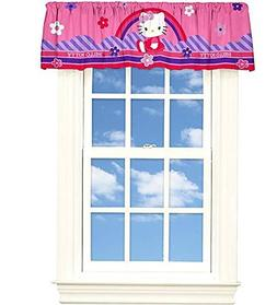 Hello Kitty Floral Sky Decorative Valance 50 in. x 17 in.