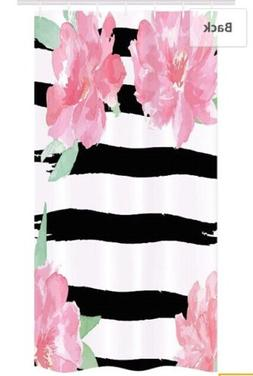 Ambesonne Floral Stall Shower Curtain, Watercolor Peony Flow
