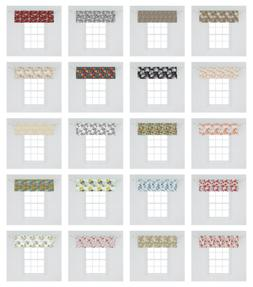 Ambesonne Floral Summer Window Valance Curtain for Kitchen B