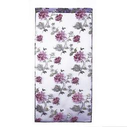 Floral Tulle Voile Curtains For Door Windows Drapes Panel Sh