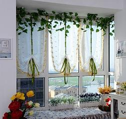 ICCO0 1PC Flower Color Tulle Door Window Curtain Drape Panel