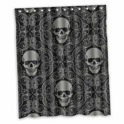 FMSHPON Four Black Skull With Lacy Pattern Around Waterproof