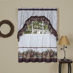 naturally home Forest Friends Kitchen Curtain Tier and Swag