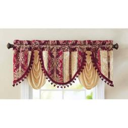 "Formal Swag Valance, Burgundy, Dimensions: 20"" x 54"""