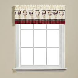 french country rooster print valance