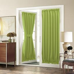 French Door Curtain Panel for Privacy - Aquazolax Solid Blac