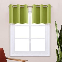 Fresh Green Valance Curtains for Window - Easy Care Home Dec