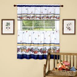 Fruity Tiles Tier & Valance Kitchen Curtain Set by GoodGram