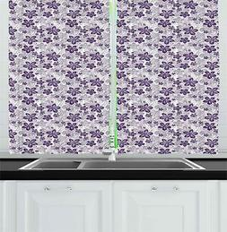 "Garden Art Kitchen Curtains 2 Panel Set Window Drapes 55"" X"