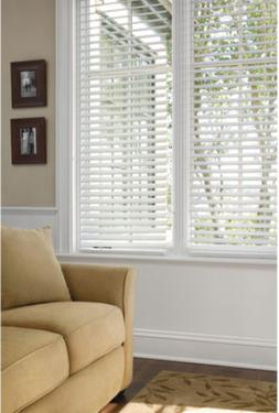 "Better Homes and Gardens 2""' Faux Wood Blinds, White"