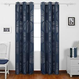 Deconovo Geometric Circle Pattern Curtains Blackout Curtains