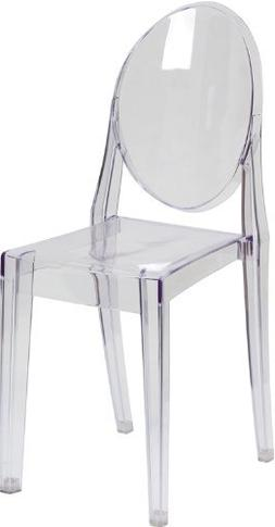 ghost side chair transparent crystal