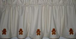 gingerbread muslin valance tiers primitive country curtains