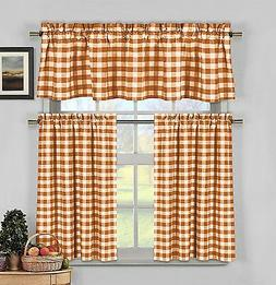 lovemyfabric Gingham Checkered Plaid Design 3-Piece Kitchen