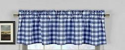 lovemyfabric Gingham Checkered Plaid Design Kitchen Curtain