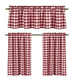 lovemyfabric Poly Cotton Gingham Checkered Plaid Design 3-Pi