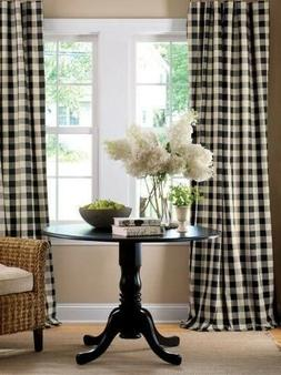 lovemyfabric Gingham/Checkered Polyester Curtain Window Trea