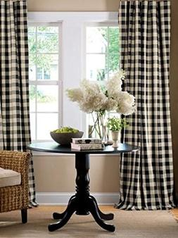 lovemyfabric Gingham/Checkered 100% Polyester Curtain Window