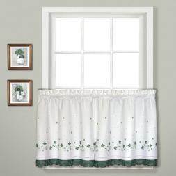 United Curtain Gingham Embroidered Kitchen Tiers, 60 by 36-I
