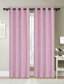 girls bedroom blackout curtain pink 2 panels