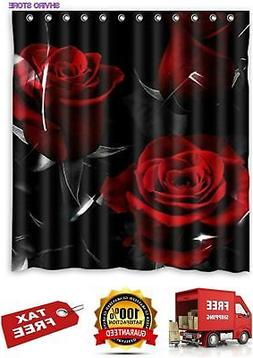 Glam Fire Red Rose Black Leaves Best Home Fashion Custom Bat