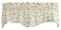 "Glessner Luxury Embroidered Valance Curtain 52""W X 16""L"