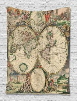 Ambesonne Globe Maps  Art Wall Hanging Tapestry mural 3370 6